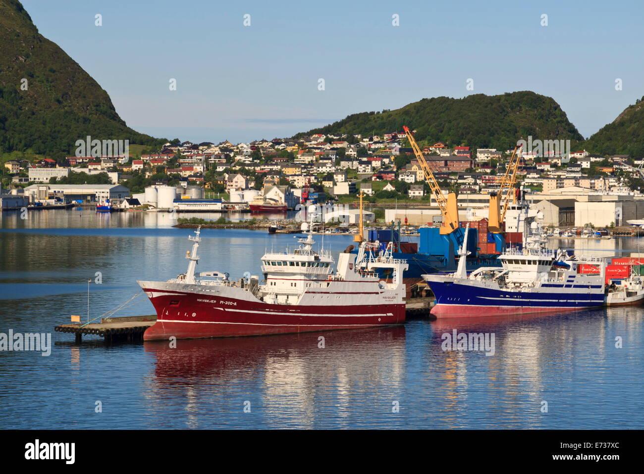 Fishing boats, Alesund, More og Romsdal, Norway, Scandinavia, Europe - Stock Image