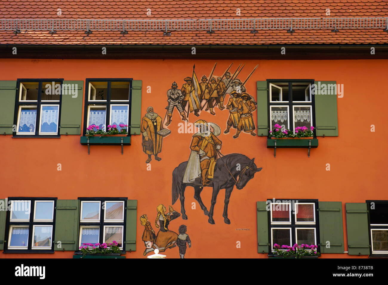 Dinkelsbuhl, Romantic Road, Franconia, Bavaria, Germany, Europe - Stock Image