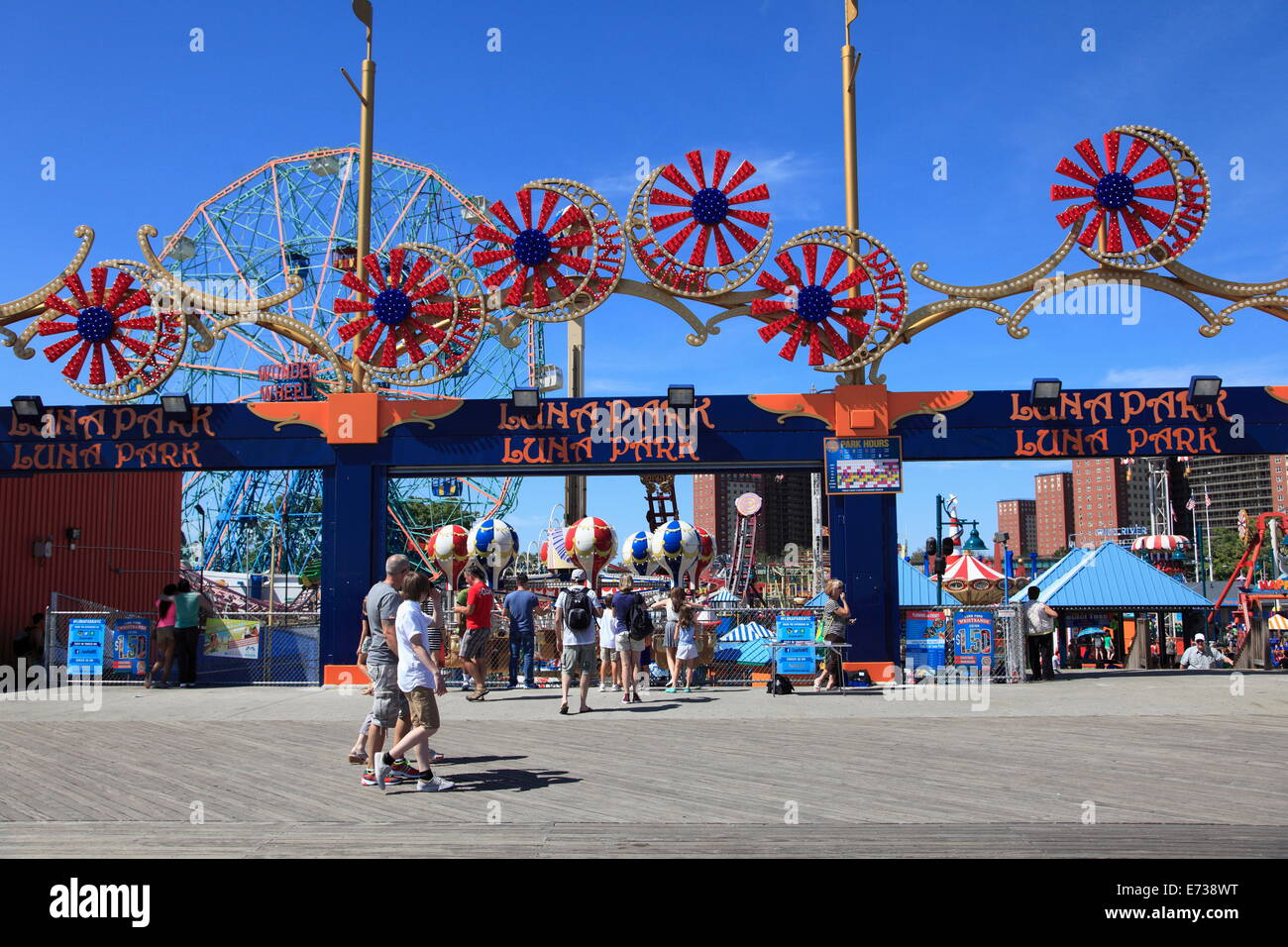 Coney Island Boardwalk Brooklyn New York