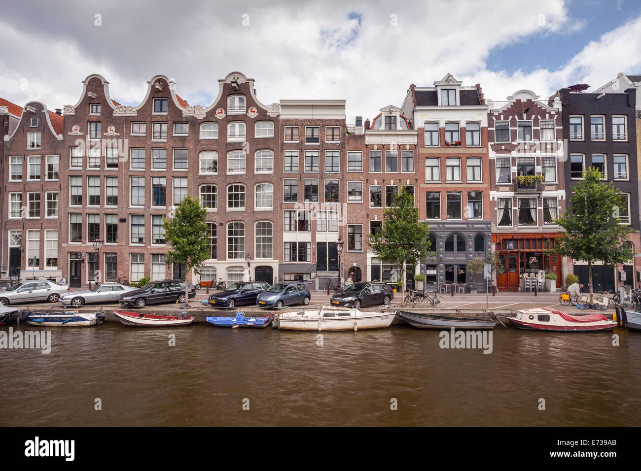 The Prinsengracht canal, UNESCO World Heritage Site, Amsterdam, The Netherlands, Europe - Stock Image