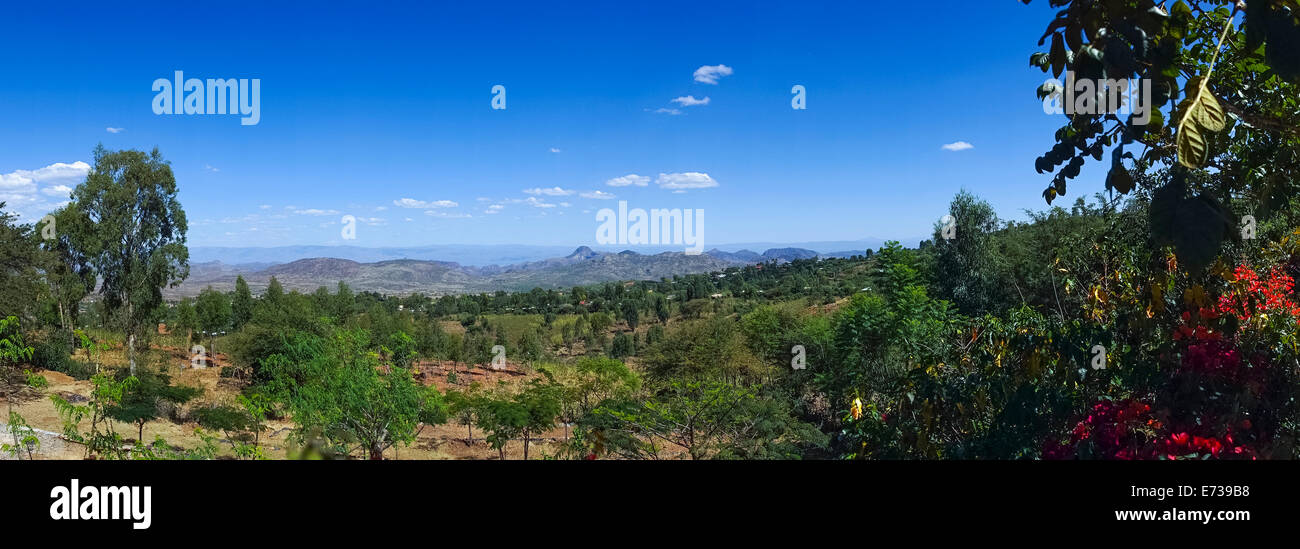 Landscape In Konso Tribe Area, Konso, Ethiopia - Stock Image