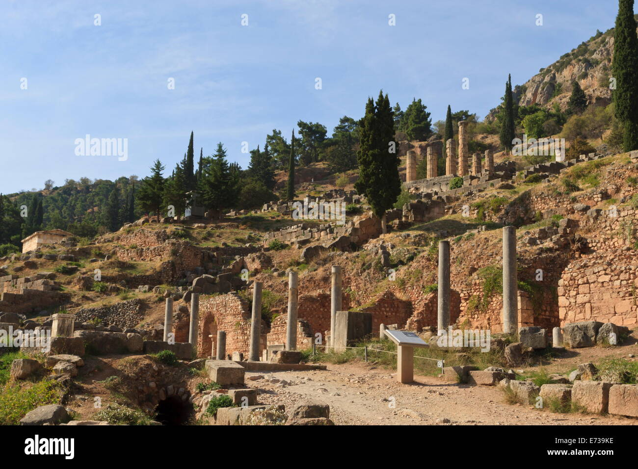 Delphi, UNESCO World Heritage Site, Peloponnese, Greece, Europe Stock Photo