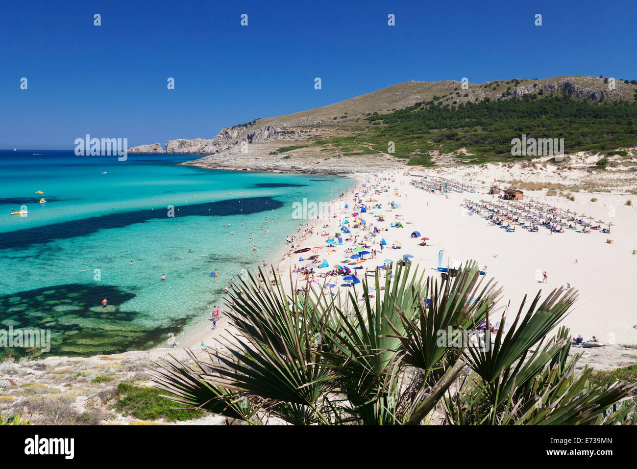 Beach and bay cala mesquita capdepera majorca mallorca balearic stock photo 73217557 alamy - Mallorca islas baleares ...