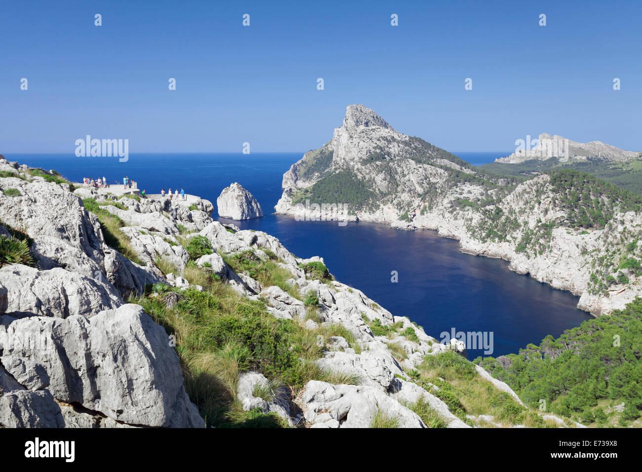 Viewpoint  Mirador d' Es Colomer, Cap de Formentor, Cape Formentor, Majorca (Mallorca), Balearic Islands (Islas - Stock Image