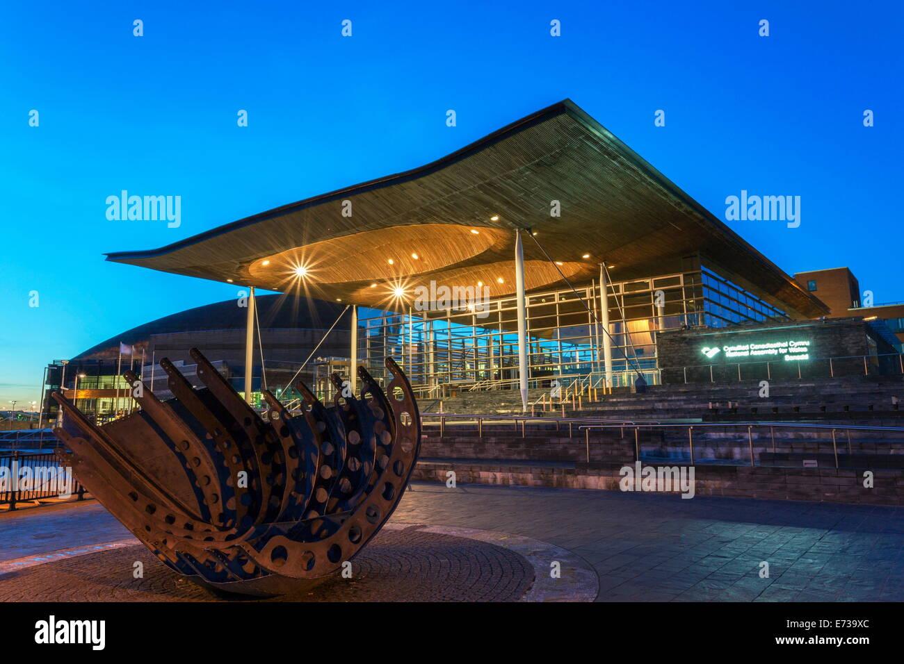 Welsh Assembly (Senedd), Cardiff Bay, Wales, United Kingdom, Europe Stock Photo