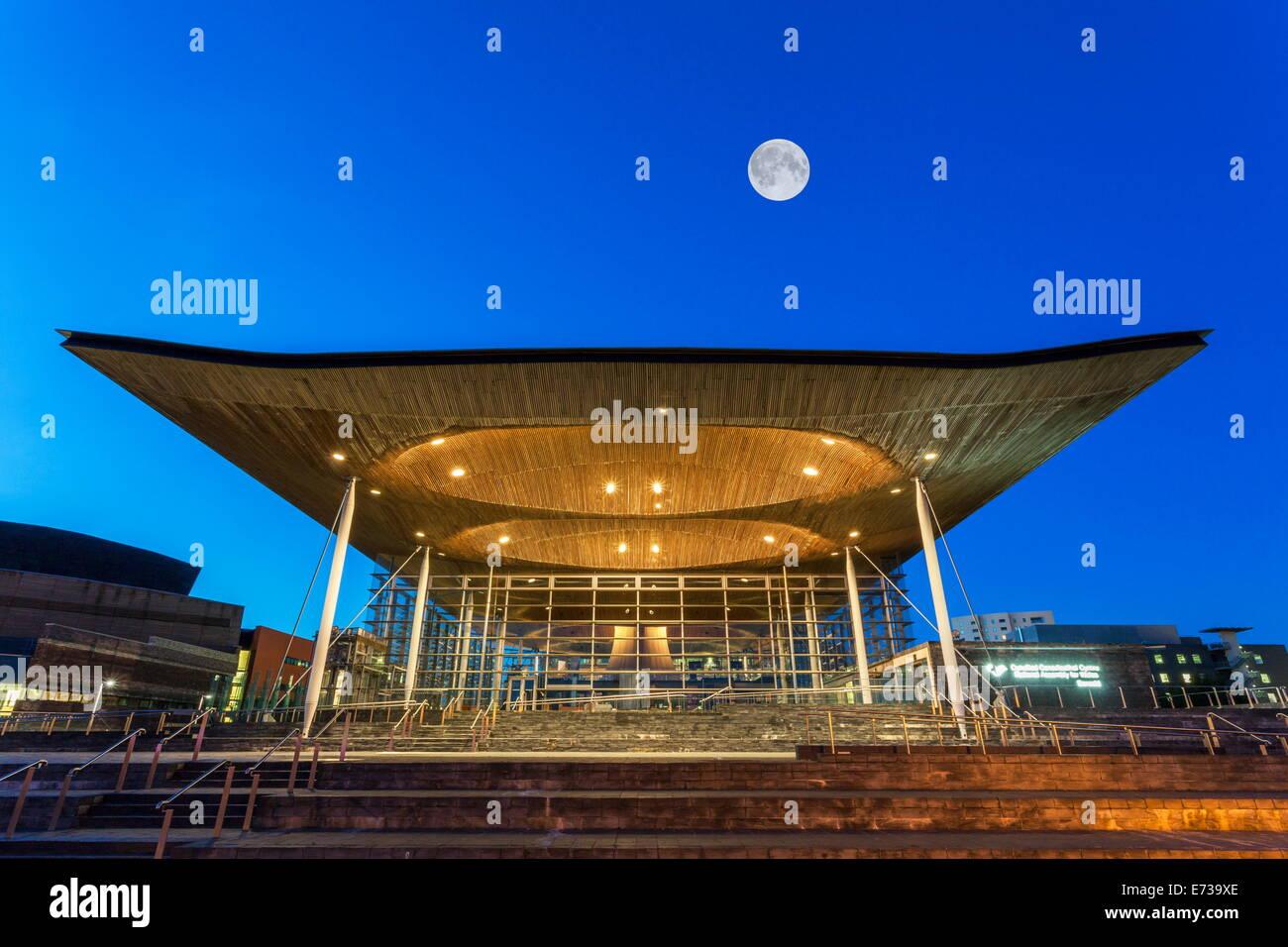 Welsh Assembly (Senedd), Cardiff Bay, Wales, United Kingdom, Europe - Stock Image