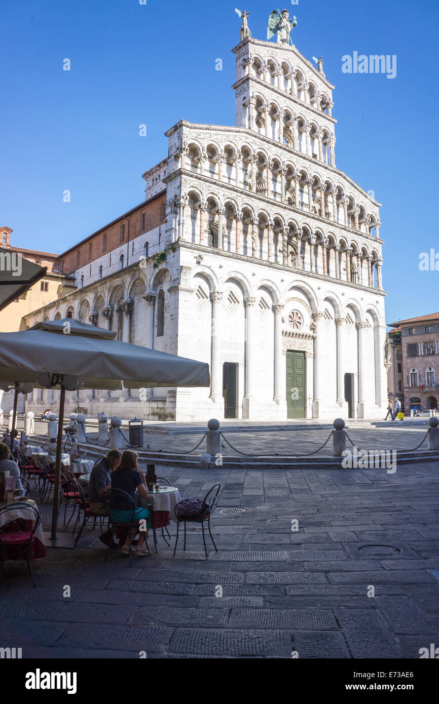 San Michele Church, Lucca, Tuscany, Italy, Europe - Stock Image