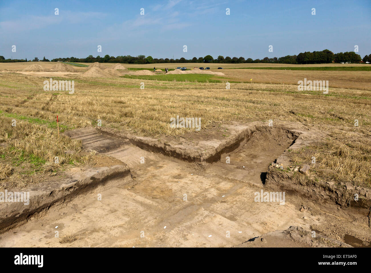 Koege, Denmark. 5th September, 2014.  The final findings of the Eastern gate (photo, foreground) was absolutely - Stock Image