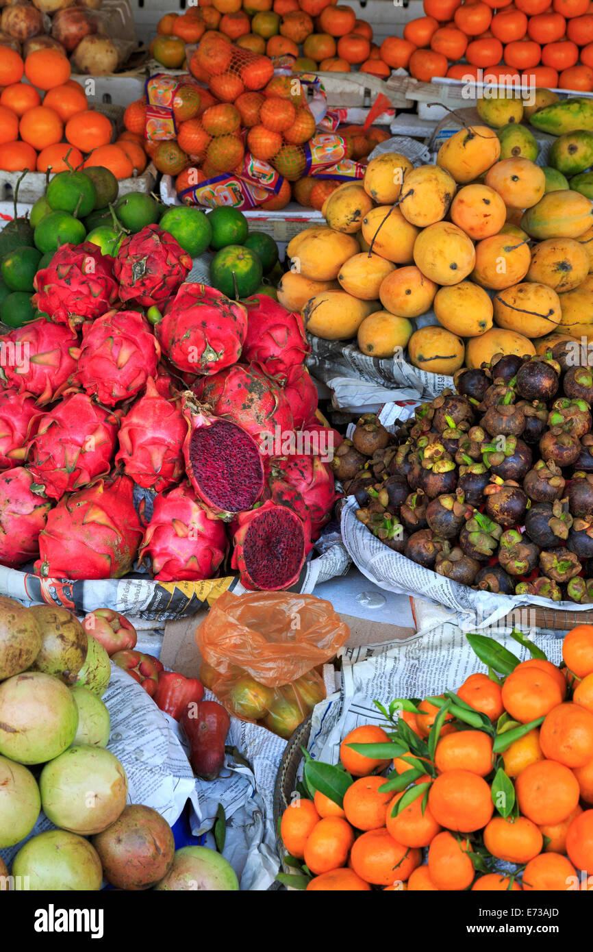 Fruit in Sihanoukville Market, Sihanouk Province, Cambodia, Indochina, Southeast Asia, Asia Stock Photo