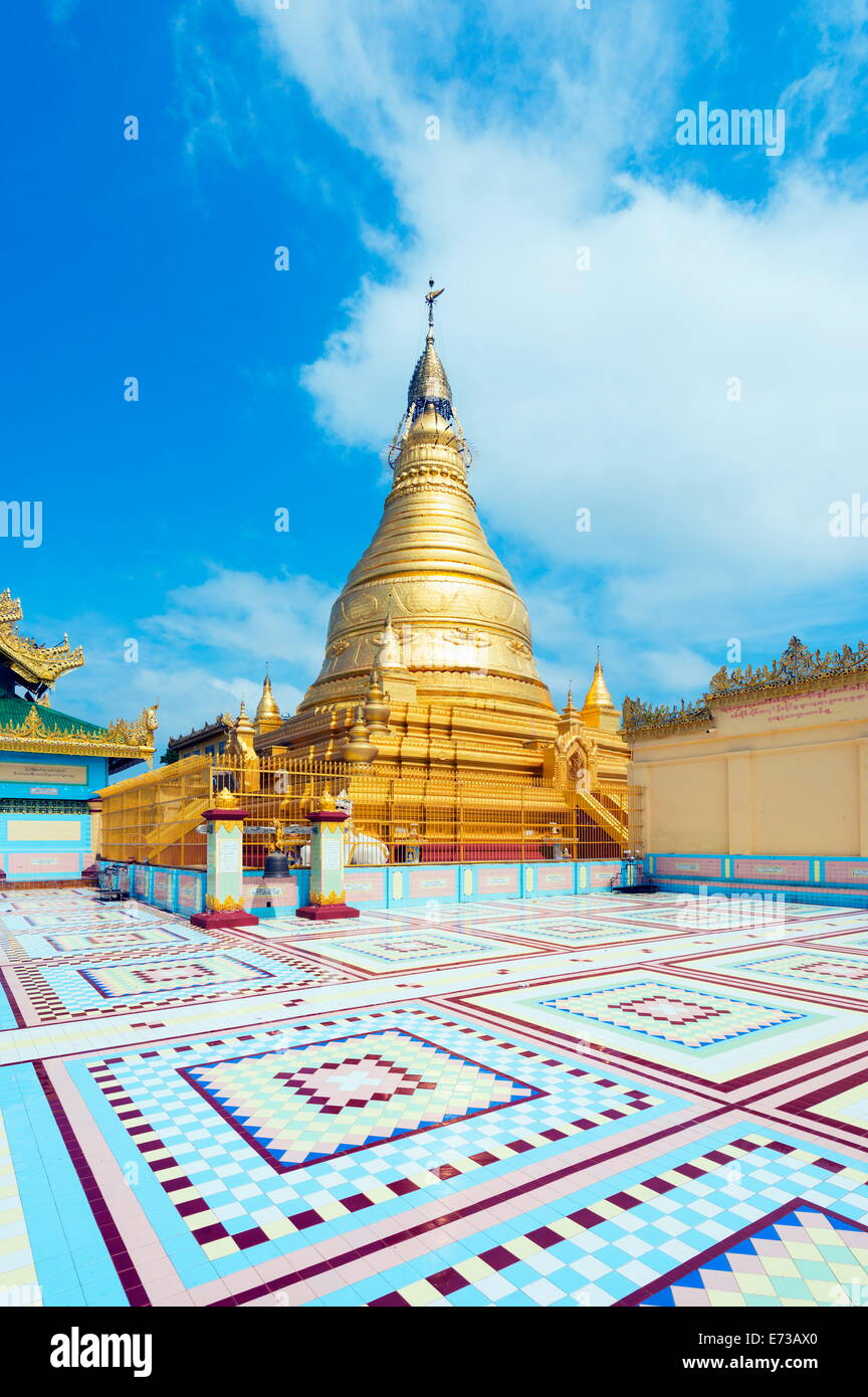 Sagaing Hill stupa, Mandalay, Myanmar (Burma), Asia Stock Photo