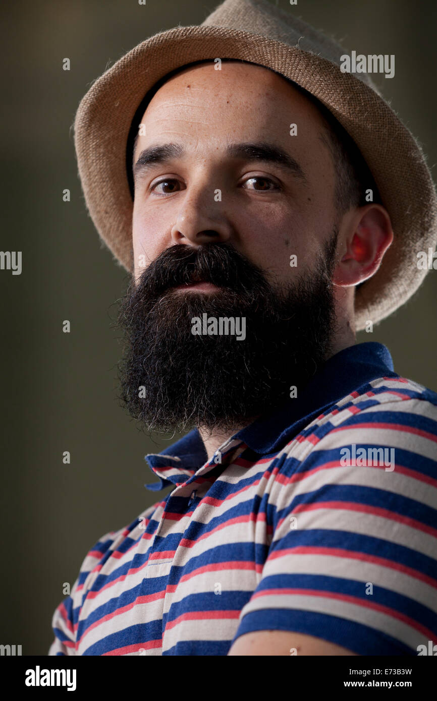 Shaun Usher, author and blogger, at the Edinburgh International Book Festival 2014. Edinburgh, Scotland. 9th August - Stock Image