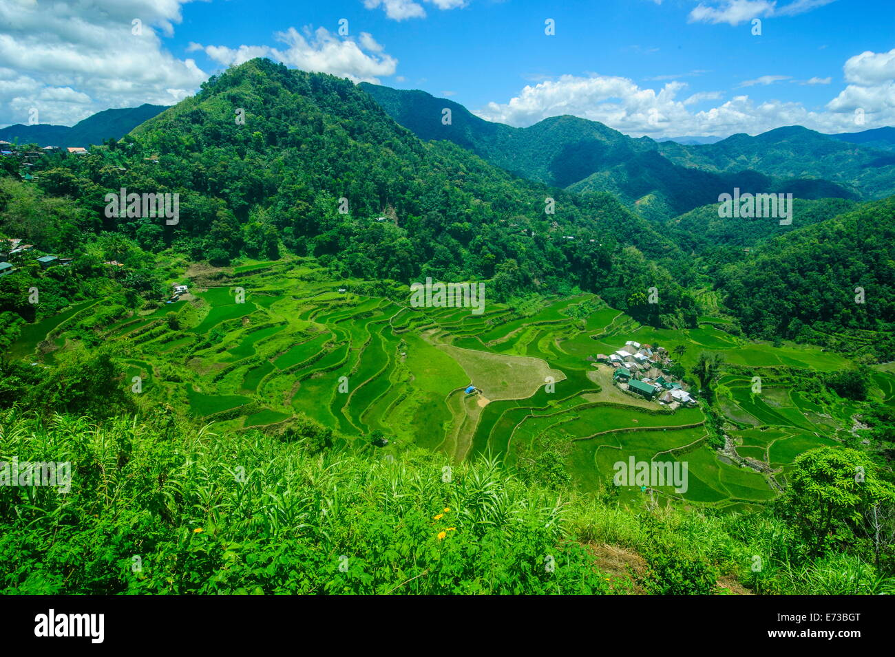 Bangaan in the rice terraces of Banaue, UNESCO World Heritage Site, Northern Luzon, Philippines, Southeast Asia, - Stock Image
