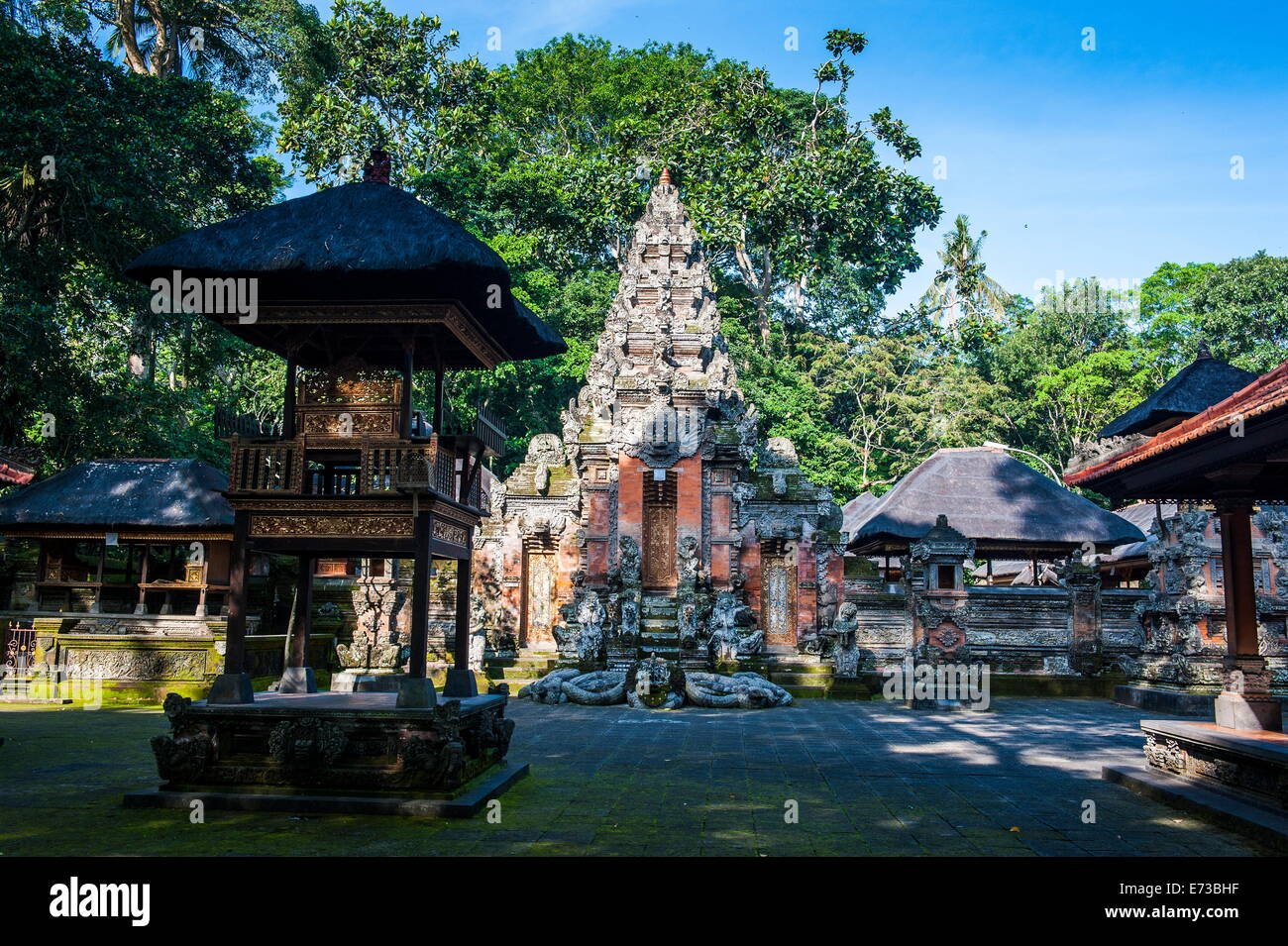 Buddhist temple in the Monkey Forest, Ubud, Bali, Indonesia,Southeast Asia, Asia - Stock Image