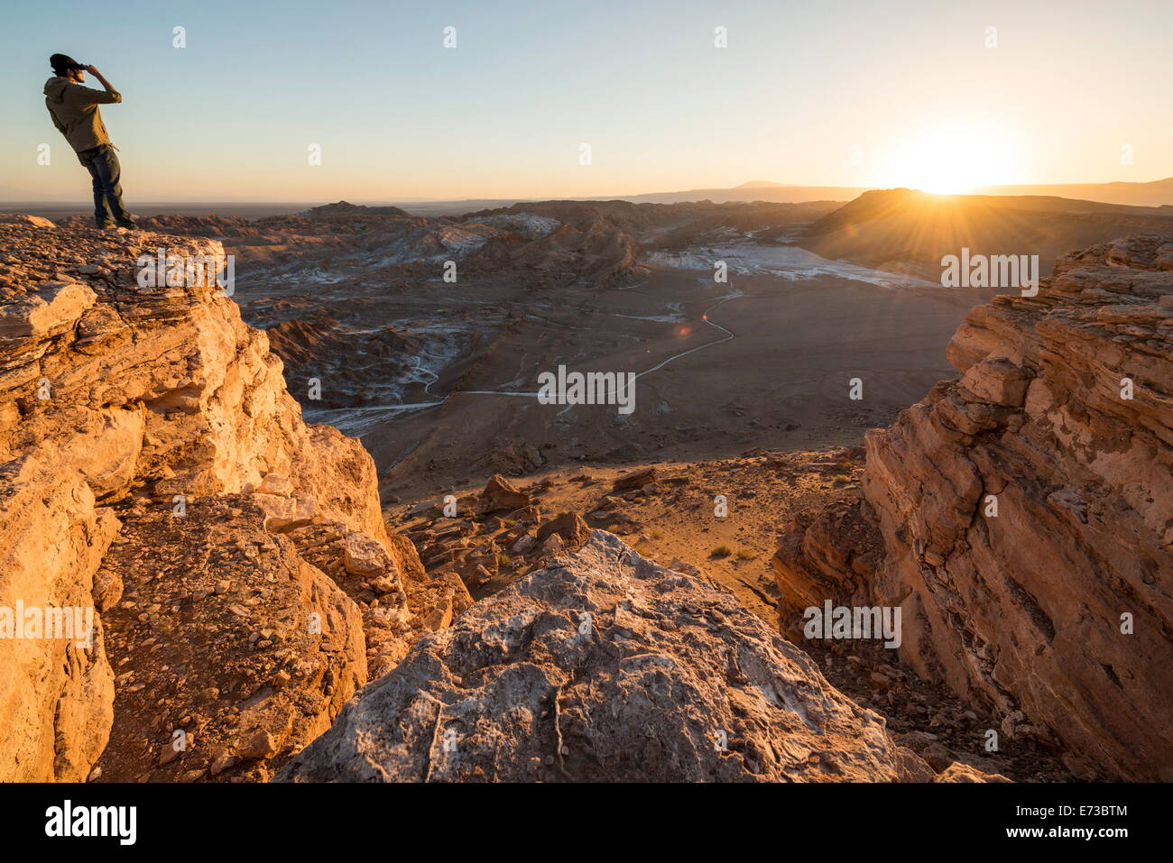 Valle de la Luna (Valley of the Moon), Atacama Desert, El Norte Grande, Chile, South America - Stock Image