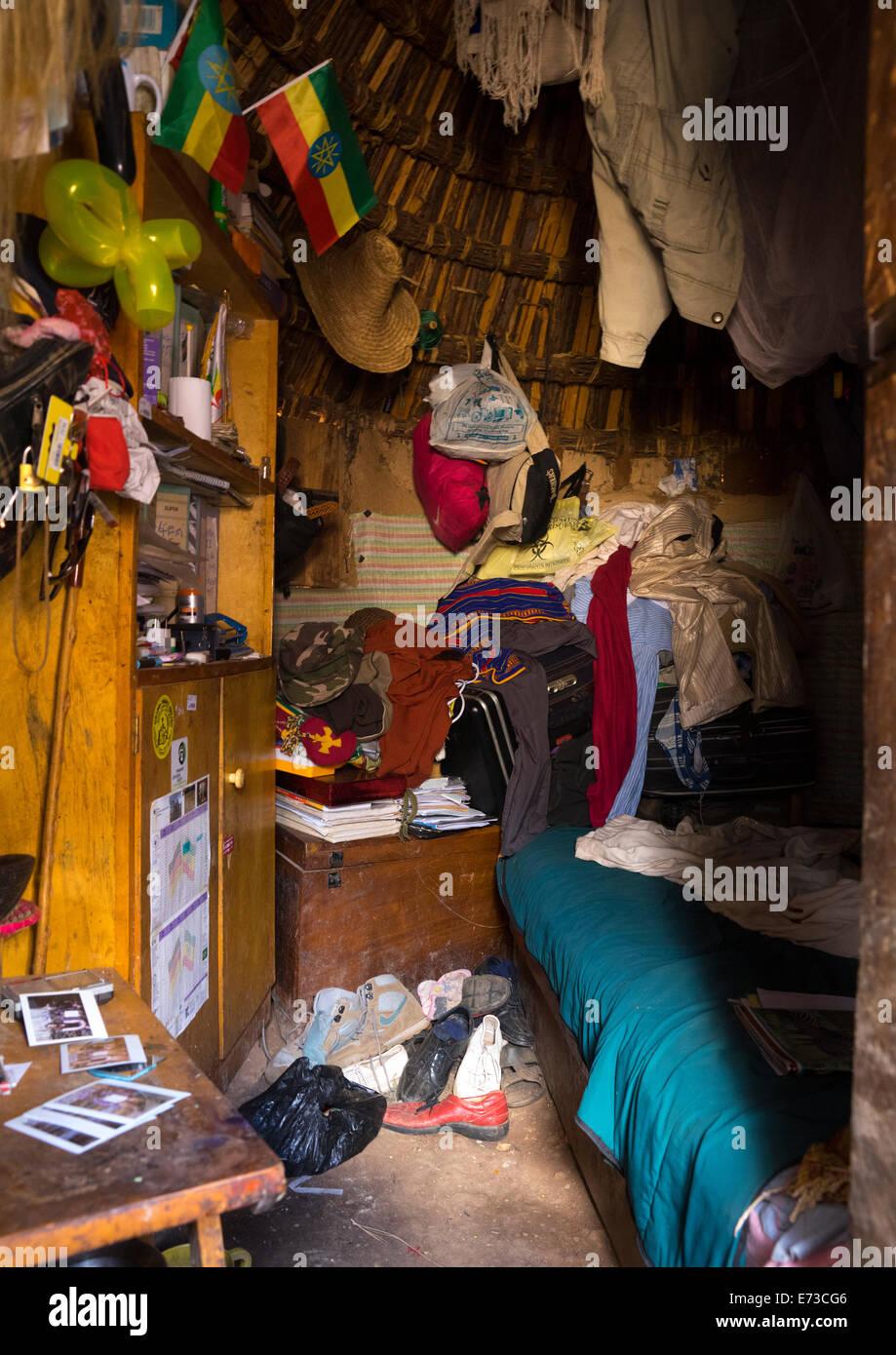 Poqla Kalla Gezahegn Woldedawit Konso King Hut, Konso, Ethiopia - Stock Image