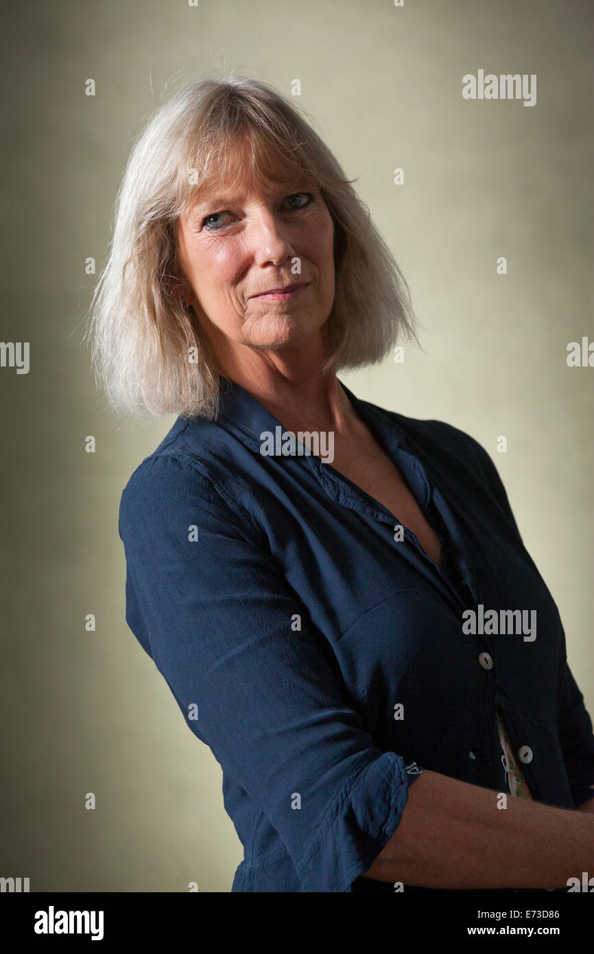 Lucy Angela Hughes-Hallett , author, cultural historian and biographer at the Edinburgh International Book Festival - Stock Image