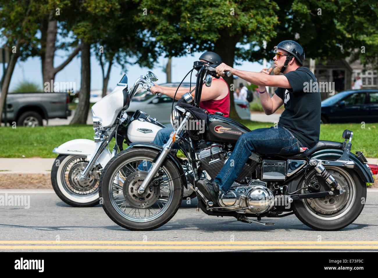Harley Davidson Rider - Stock Image