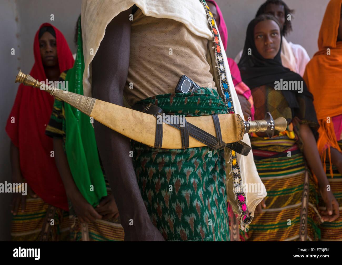 Afar Tribe Knife, Afambo, Ethiopia - Stock Image