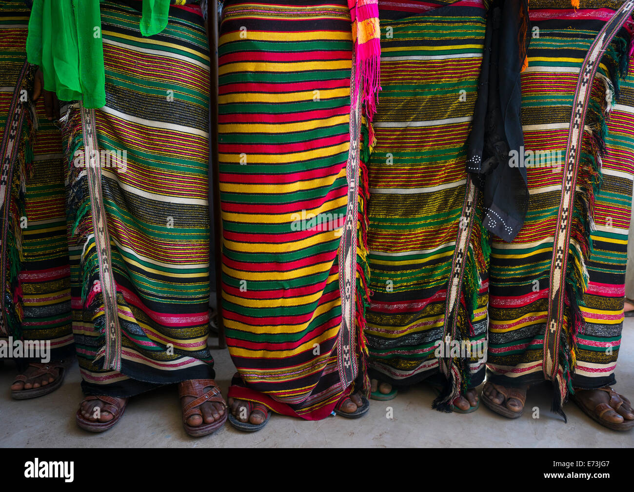 Afar Tribe Women Costumes, Afambo, Ethiopia - Stock Image