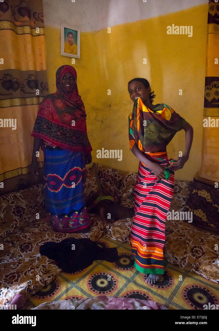 Fatouma Mahammed From Afar Tribe Afambo, Ethiopia - Stock Image