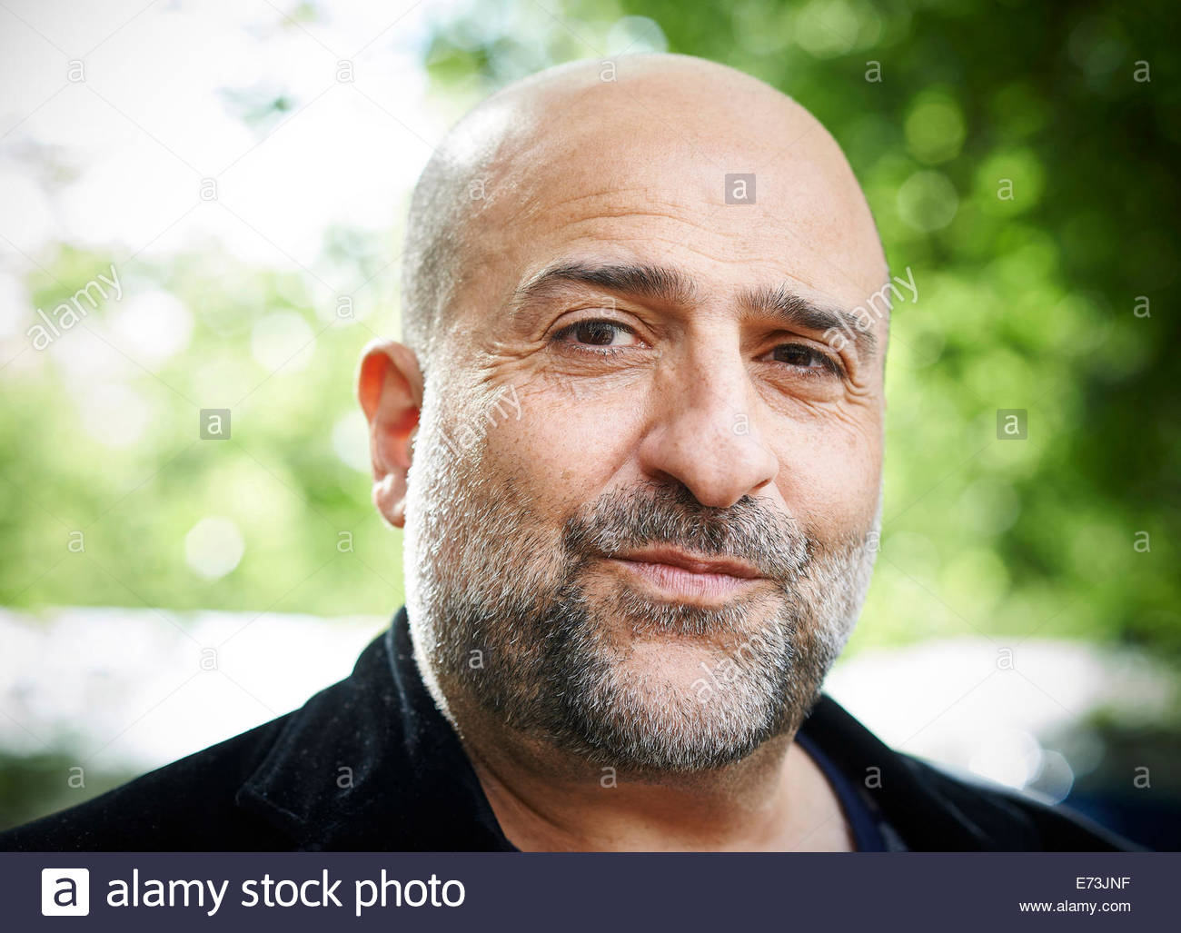 Omid Djalili, commedian, actor  and writer  at Edinburgh International Book Festival  Literary Festival  2014 - Stock Image