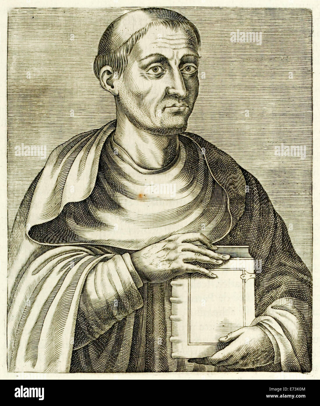 """Hugh of Saint Victor (1096-1141) from """"True Portraits…"""" by André Thévet published in 1594. See description - Stock Image"""