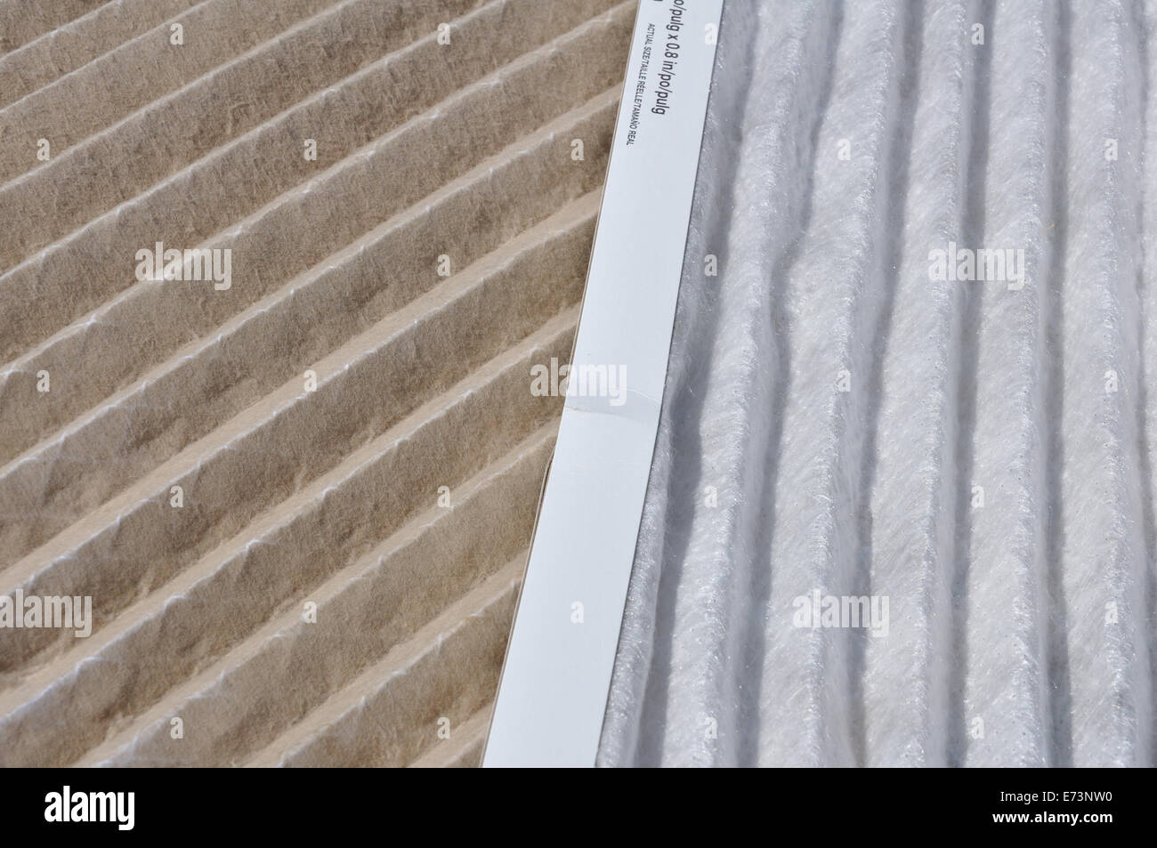 Dirty and clean home air conditioner filters