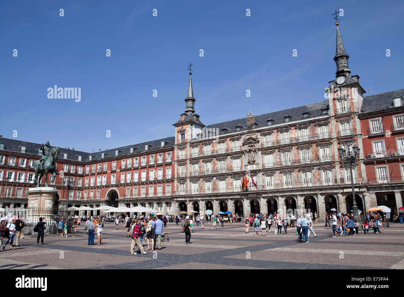 Spain, Madrid, Plaza Mayor. Stock Photo