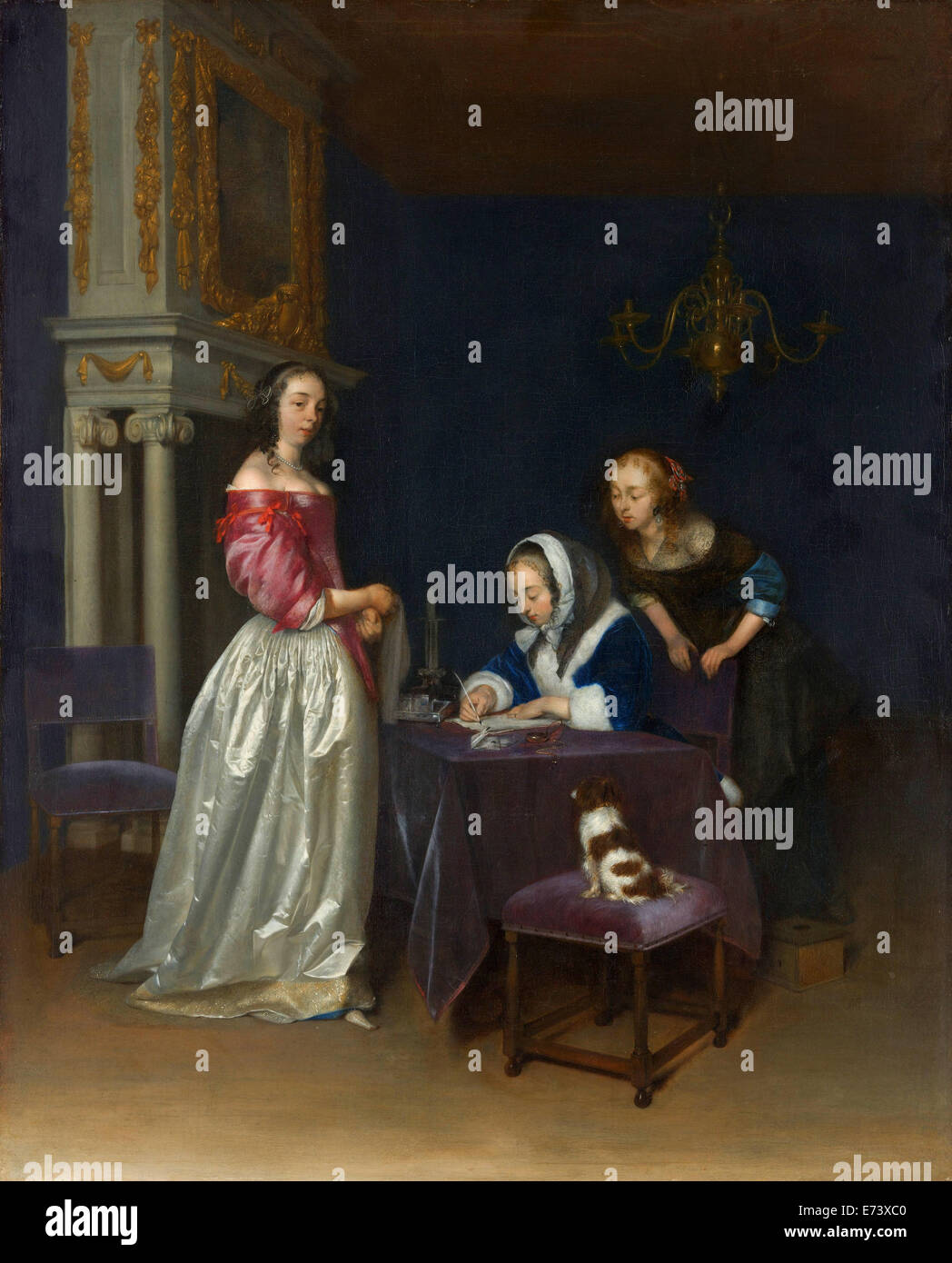 Curiosity - by Gerard ter Borch the Younger, 1662 - Stock Image