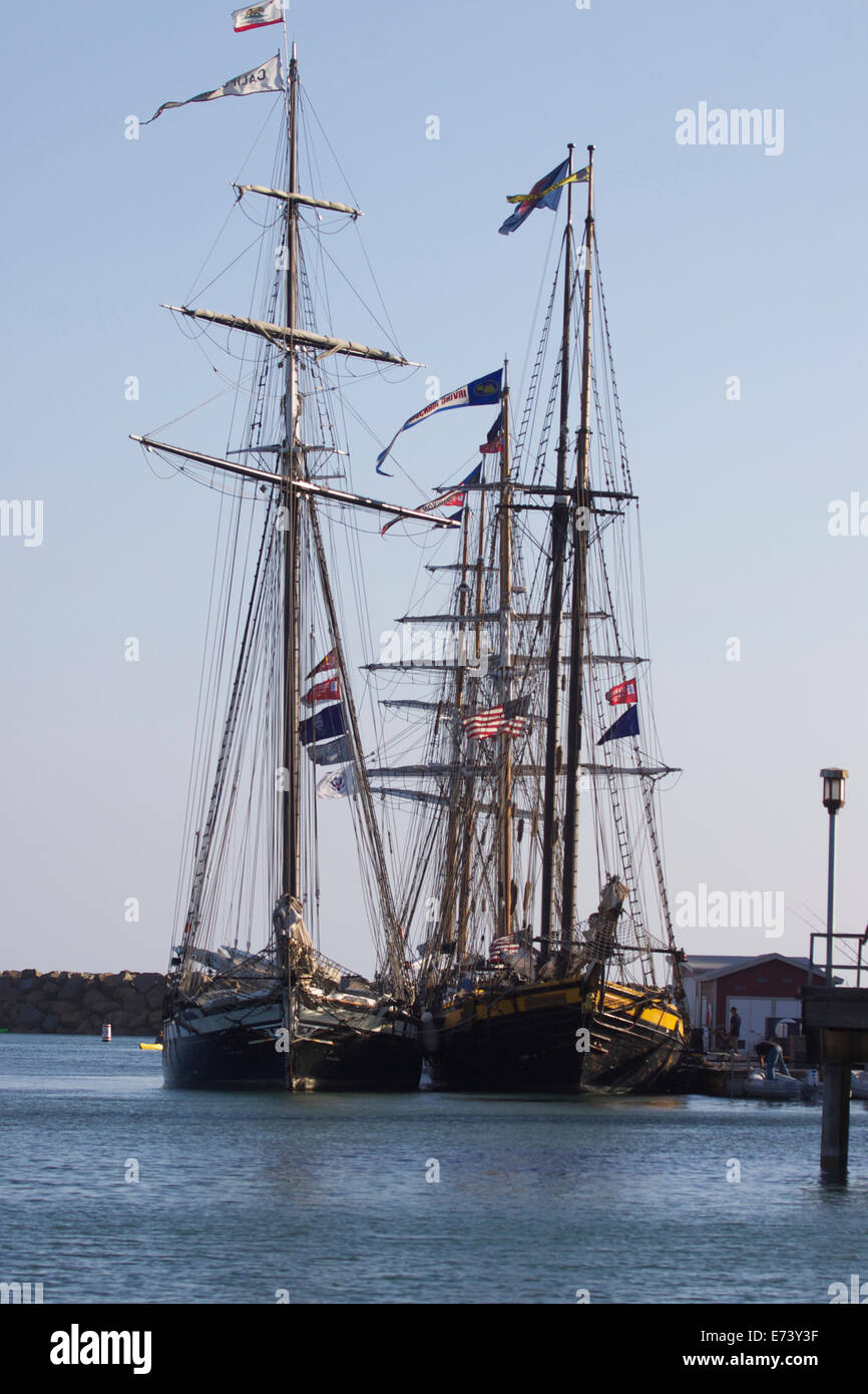 Dana Point, California, USA. 5th September, 2014. The Tall Ships Festival sunset parade sail in Dana Point was canceled Stock Photo