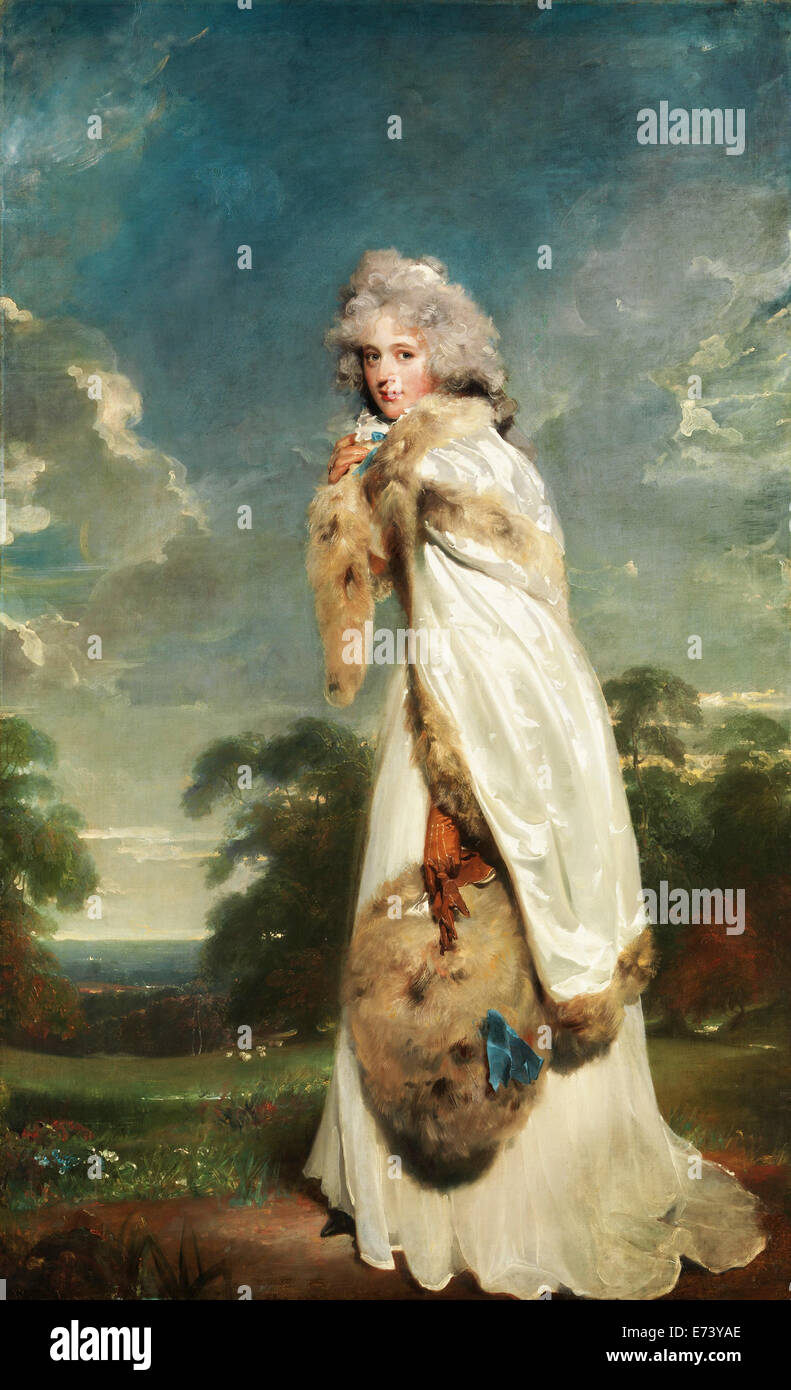 Elizabeth Farren, Later Countess of Derby - by Thomas Lawrence, 1790 - Stock Image