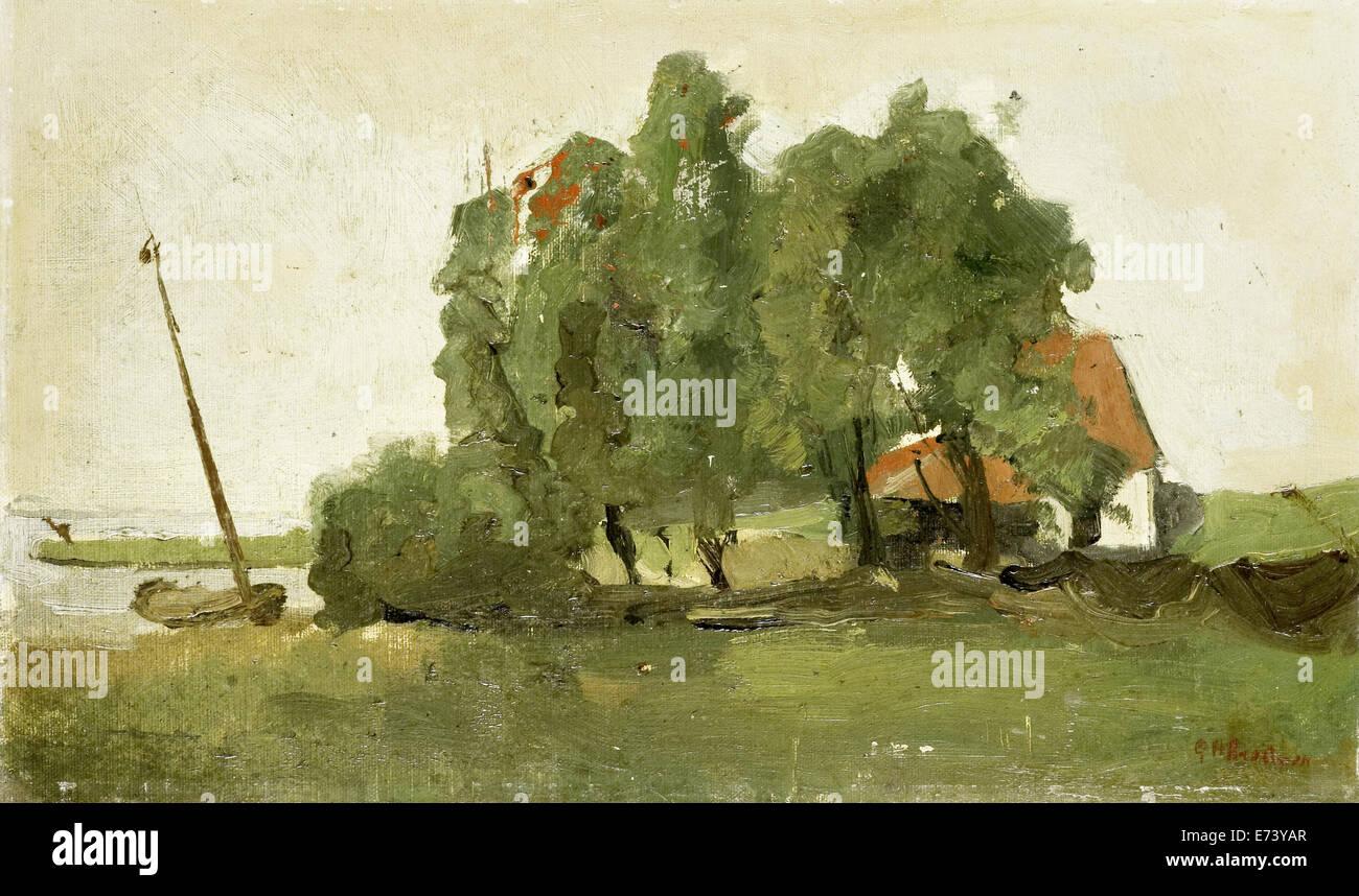 Farmers homestead - by George Hendrik Breitner, 1880 - 1923 - Stock Image