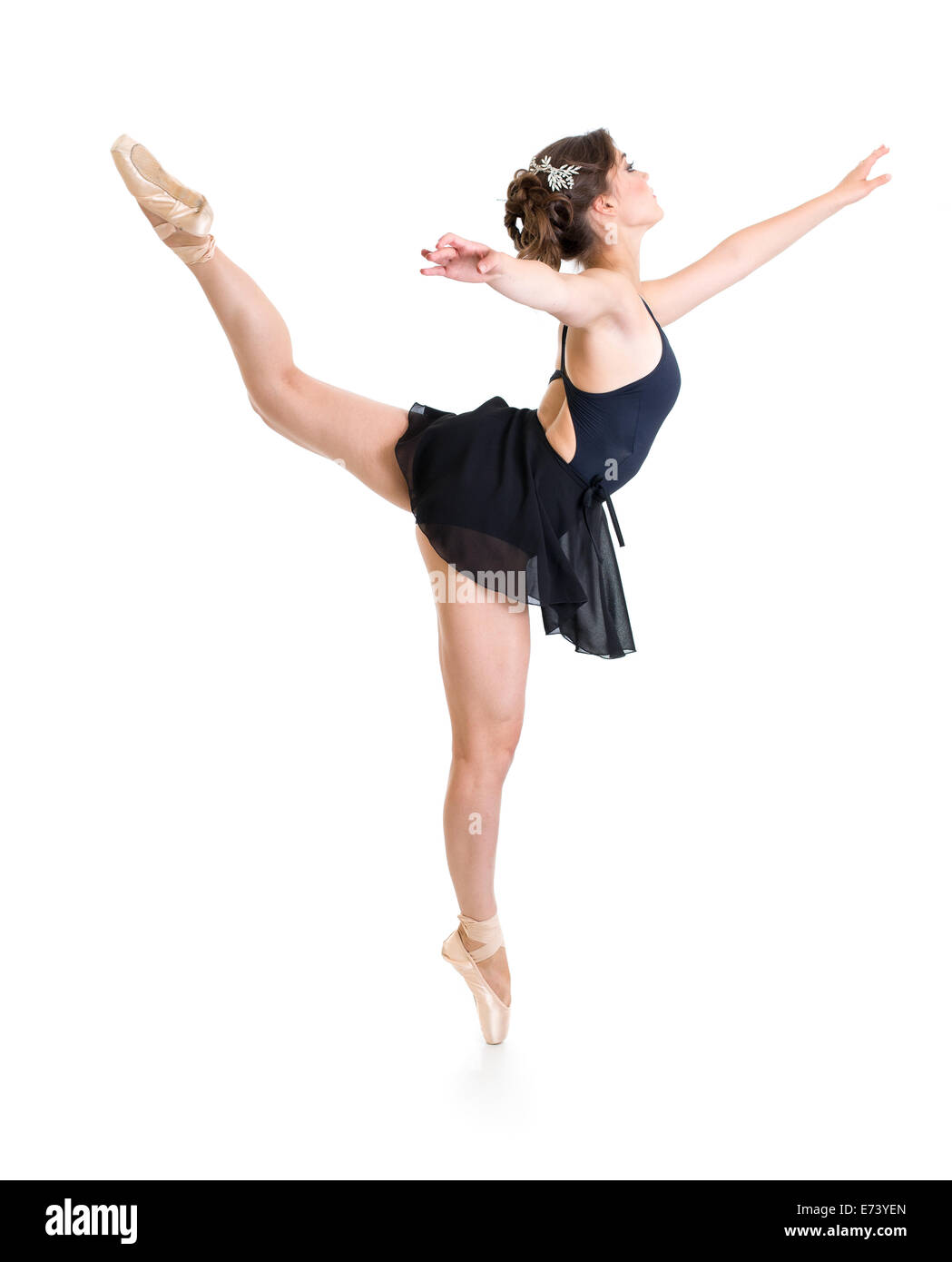 dancer girl isolated on white - Stock Image