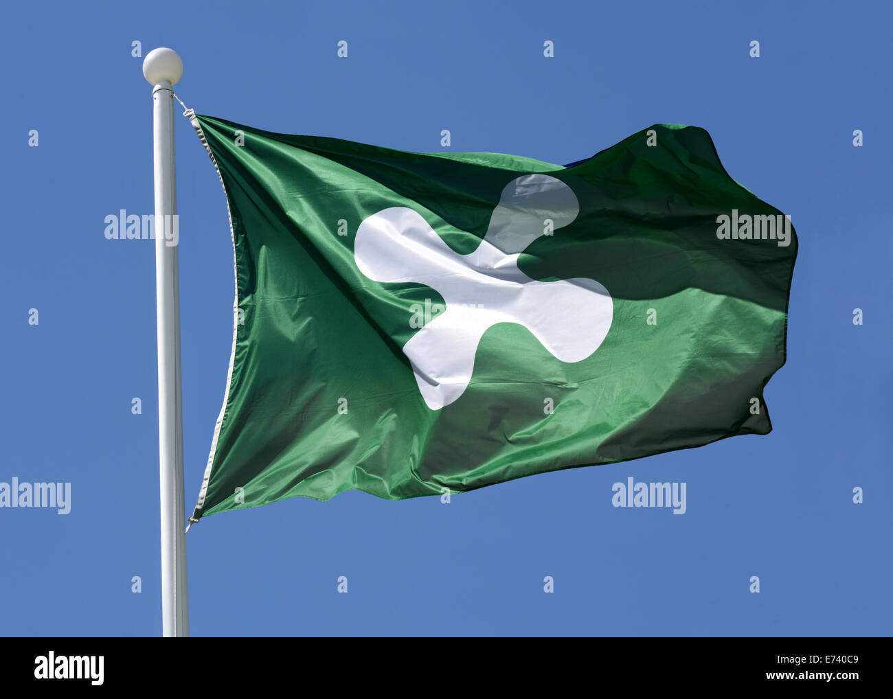 Regional flag of Lombardy - Italy - - Stock Image