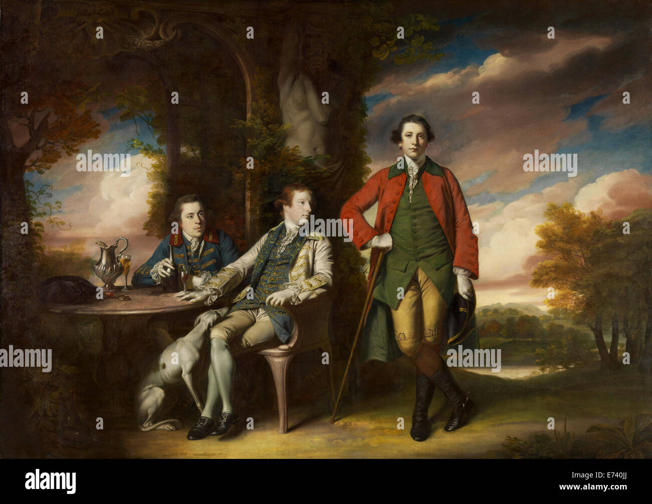 Honorable Henry Fane with Inigo Jones and Charles Blair - by Joshua Reynolds, 1766 - Stock Image