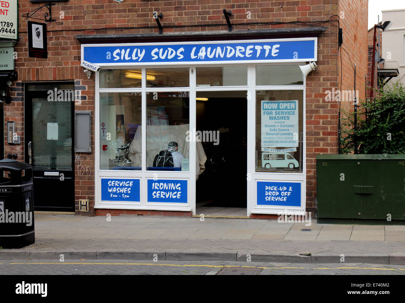 Silly Suds laundrette, Stratford-upon-Avon, Warwickshire, UK - Stock Image