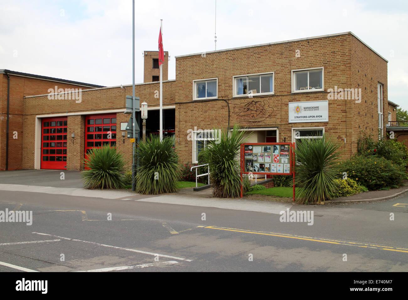 Stratford-upon-Avon fire station, Warwickshire, UK Stock