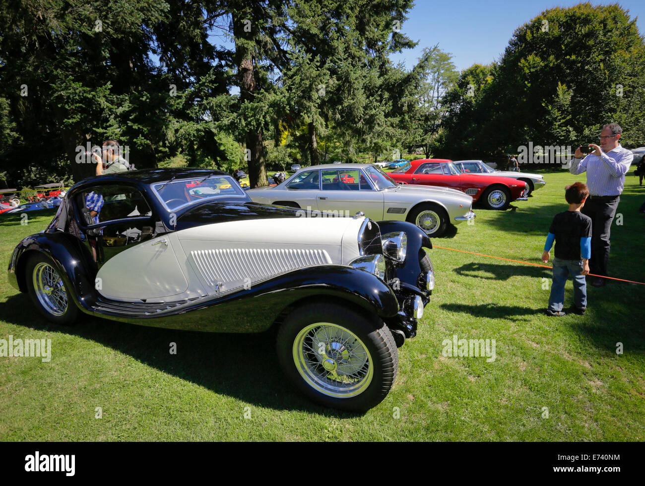 Vancouver, Canada. 5th Sep, 2014. Different types of vintage cars ...