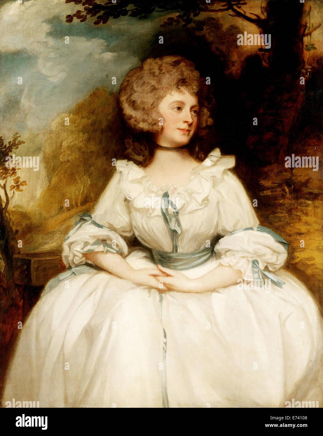 Lady Lemon - by George Romne, 1780's - Stock Image