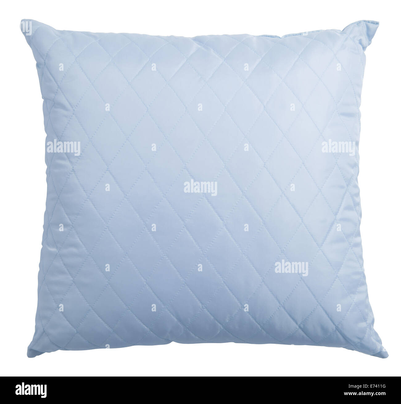 blue pillow isolated with clipping path included - Stock Image