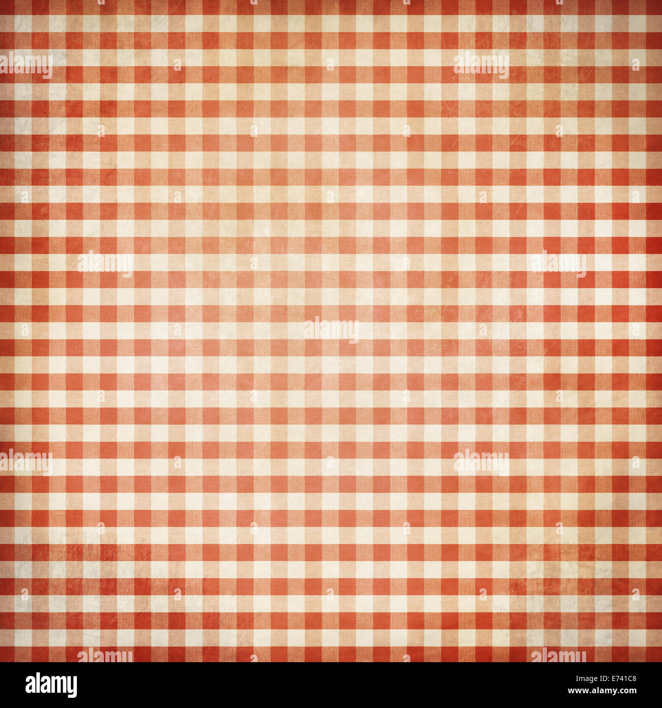 Red Grunge Checked Picnic Tablecloth Background Stock Photo ...