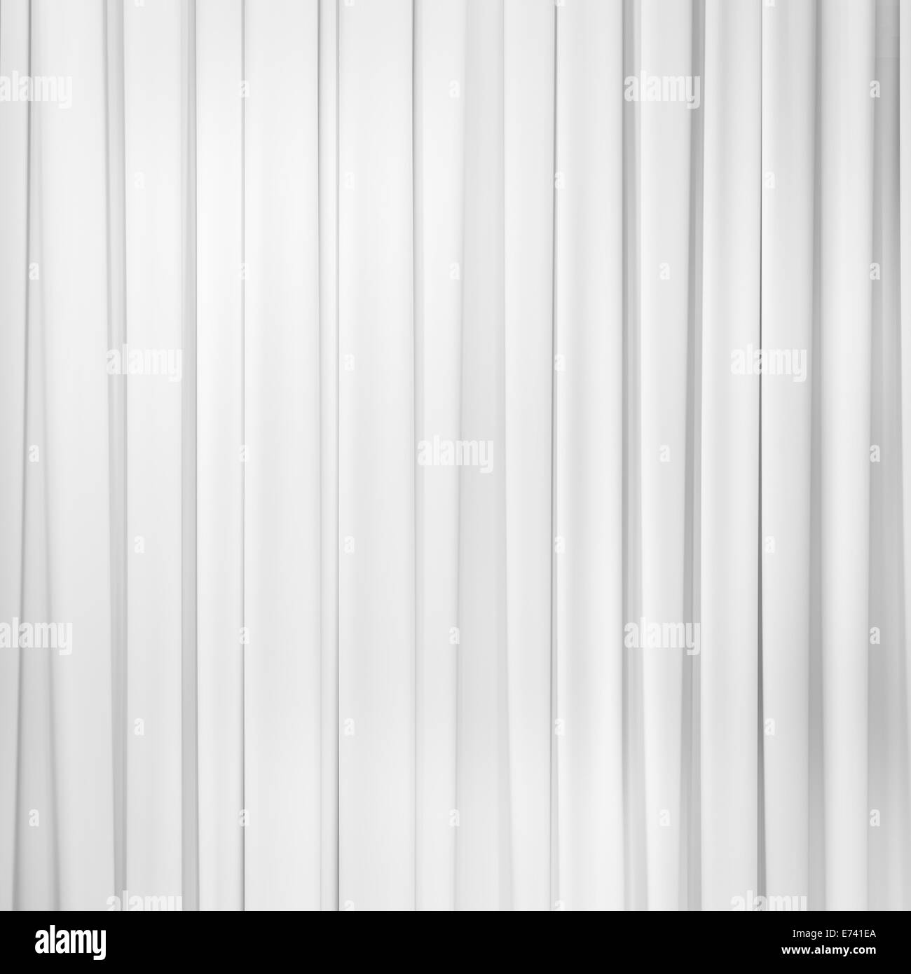 white curtain or drapes background - Stock Image