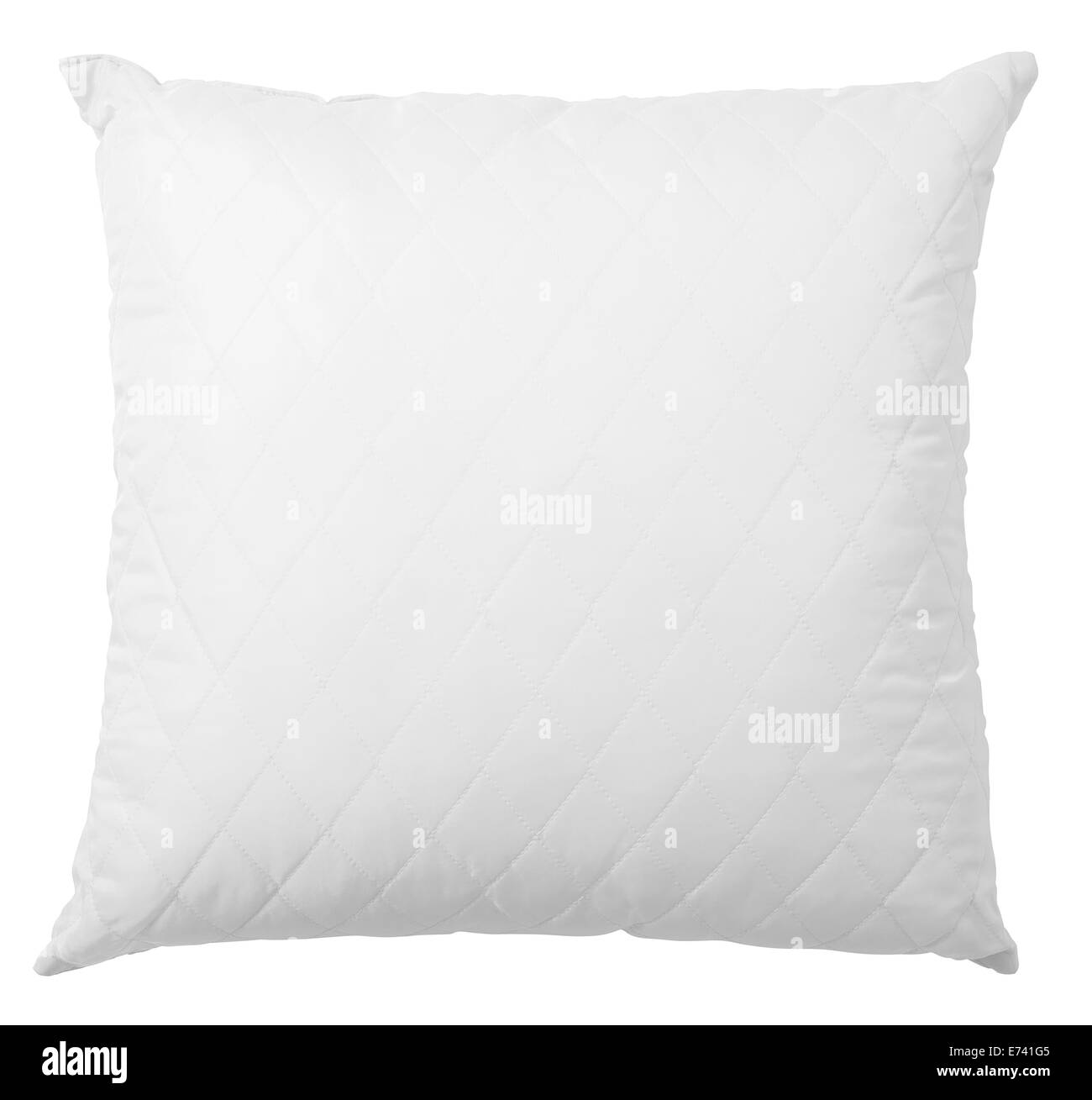 white pillow isolated with clipping path included - Stock Image
