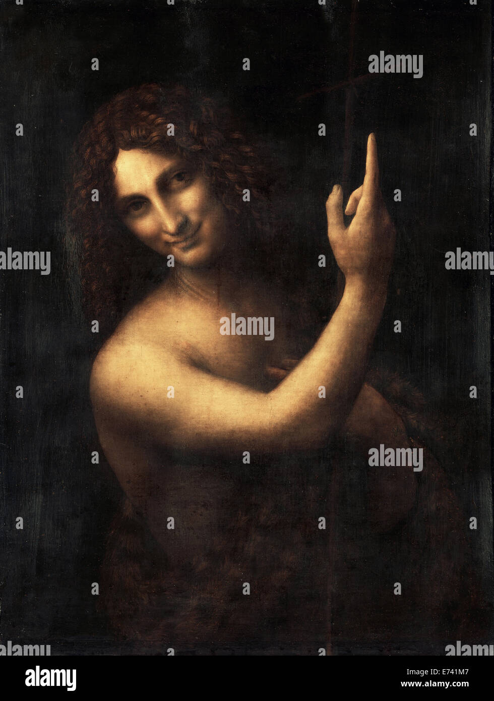 John the Baptist - by Leonardo Da Vinci, 1514 - Stock Image