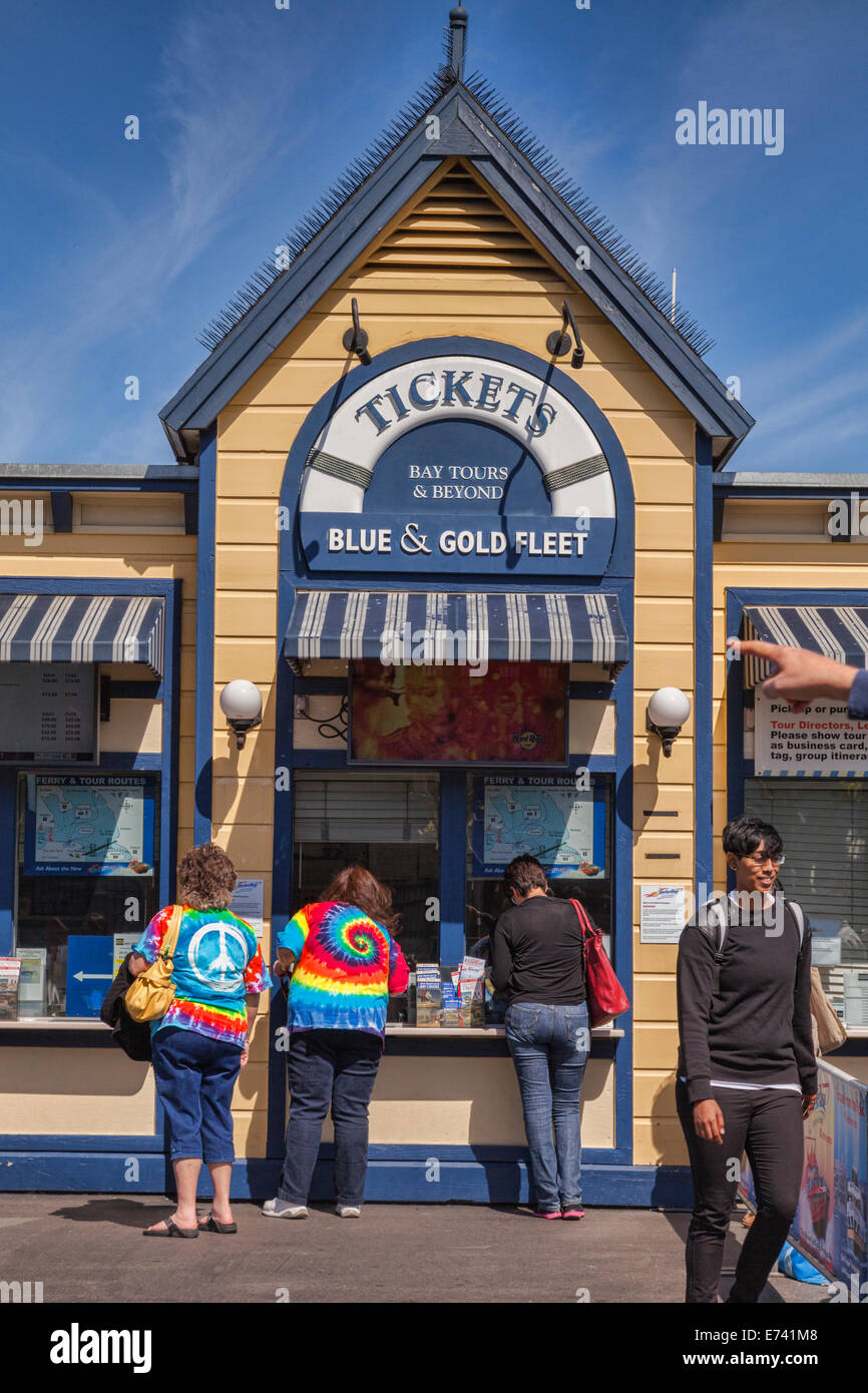 Blue and Gold Fleet Ticket Office, San Francisco, near Pier 39. - Stock Image
