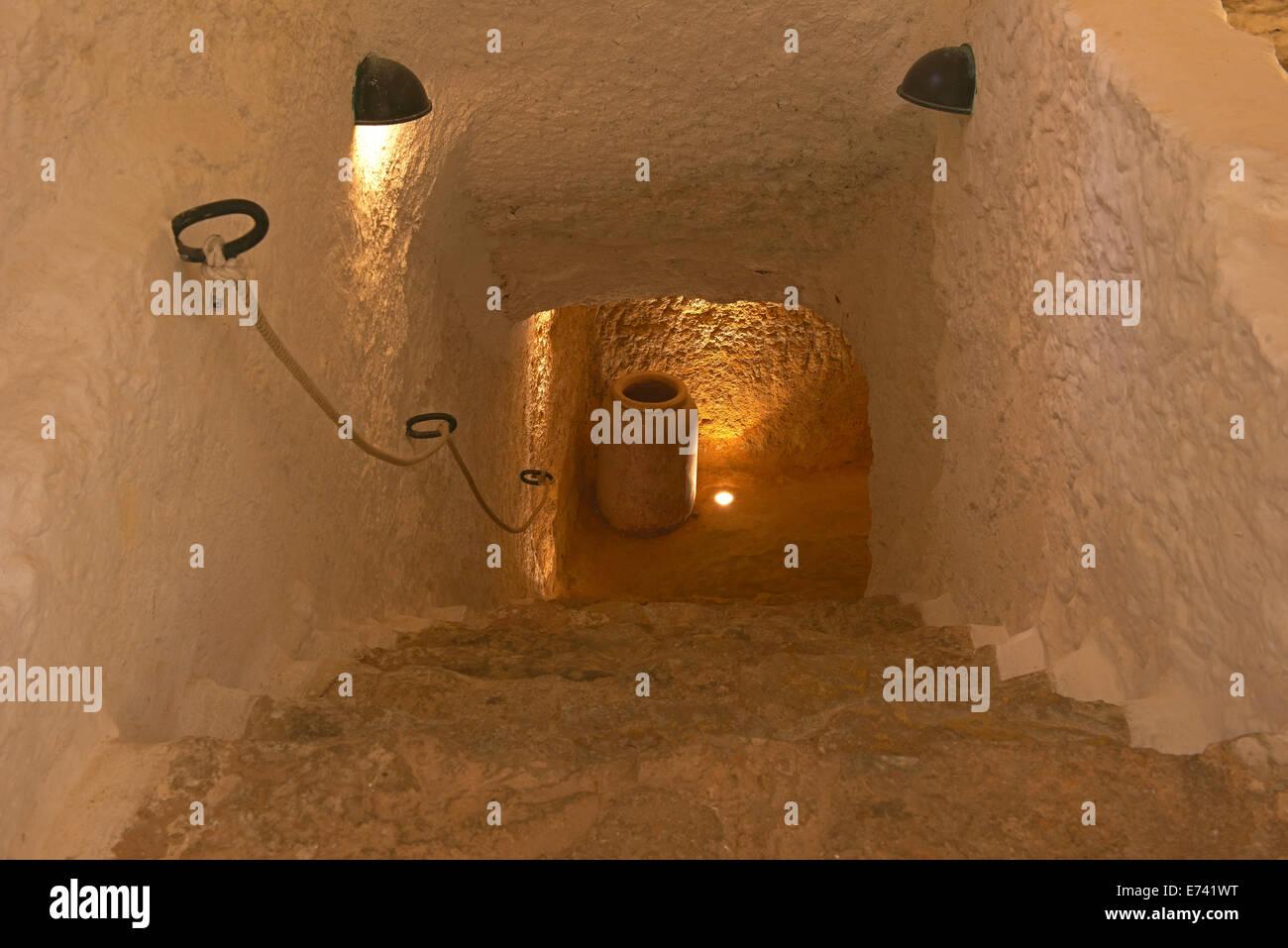 Cueva de Medrano, That is supposed to be Miguel de Cervantes' prison, Argamasilla de Alba,Ciudad Real province, - Stock Image