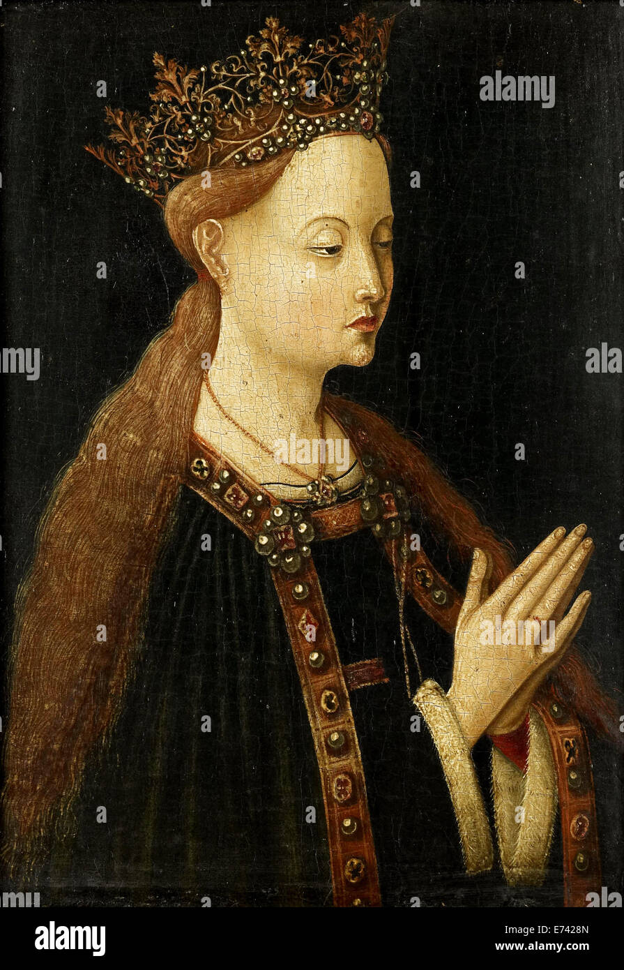 Maria - by unknown artist, 1500 - Stock Image