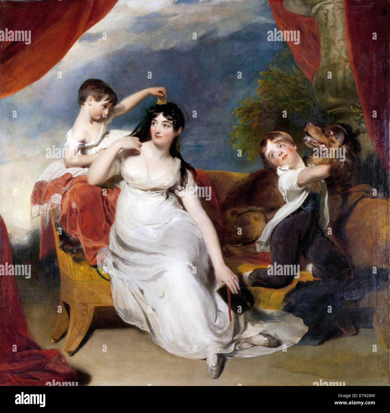 Maria Mathilda Bingham with Two of her Children - by Thomas Lawrence, 1810 - 1818 - Stock Image