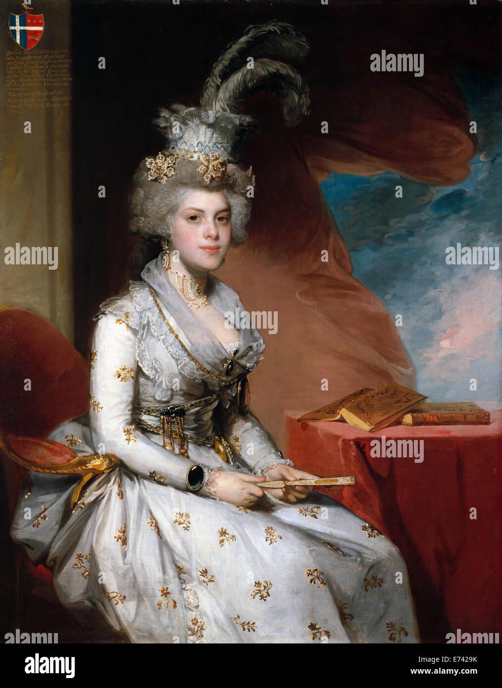 Matilda Stoughton de Jaudenes - by Gilbert Stuart, 1794 - Stock Image