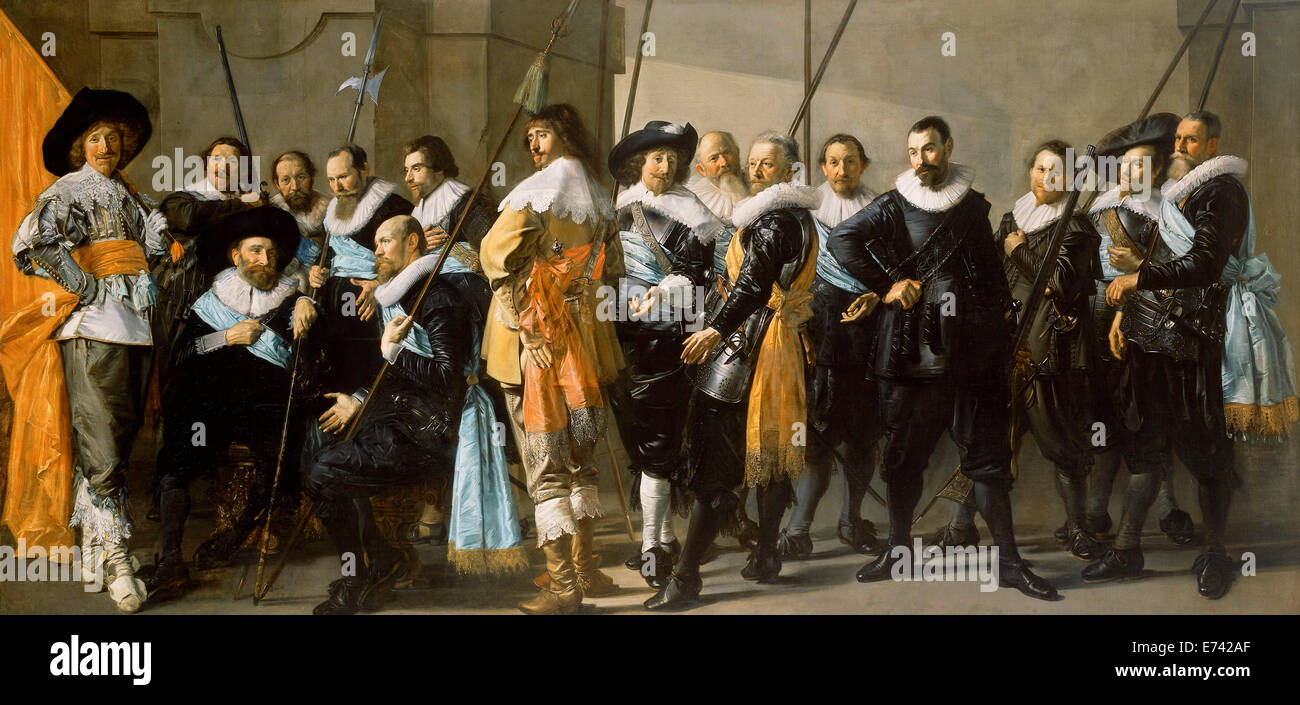 Militia Company of District XI under the Command of Captain Reynier Reael - by Frans Hals Pieter Codde, 1637 - Stock Image